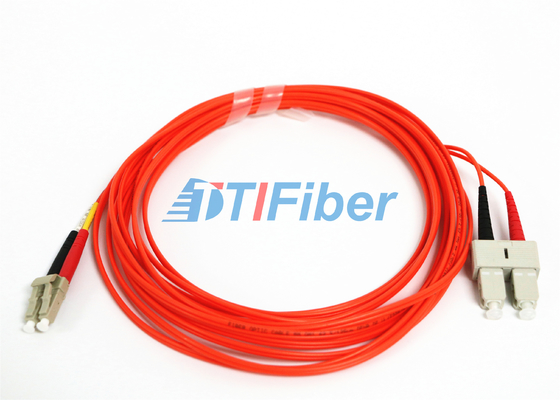 China OM2 Fibre Optic Patch Leads / SC - LC Patch Cord Telecommunication supplier