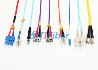 MU MTRJ Single Mode Patch Cord /  Duplex Multimode Fiber Optic Cable