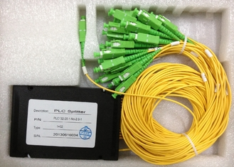 1*32 And 2*32 Optical Fiber Couplers With 0.9mm 2.0mm 3.0mm Cable , Multimode Fiber Splitter