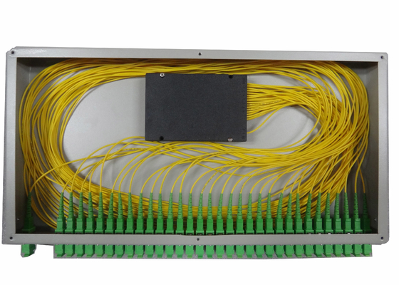 1x16 PLC Optical Fiber Splitter For Rack Mounted Fiber Terminal Box