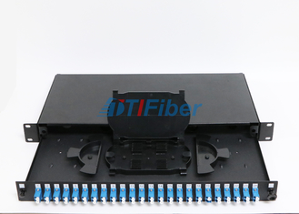 Duplex Port Fixed 24 Port Lc Fiber Patch Panel / Fibre Termination Box