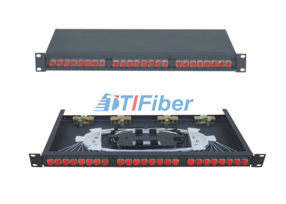 48 Core Fiber Optic Cable Patch Panel For FC / UPC Optical Fiber Patch Cord