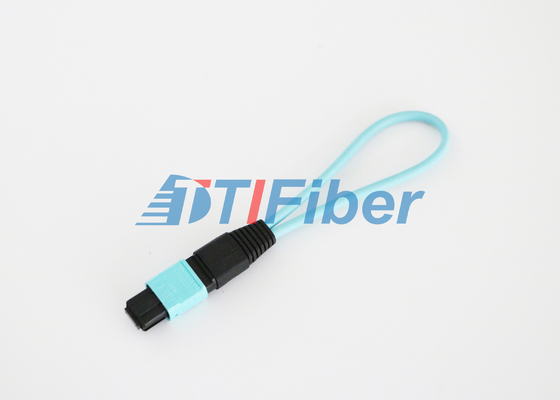 12 Core OM3 MPO / MTP Fiber Optic Loopback with Low Insertion Loss