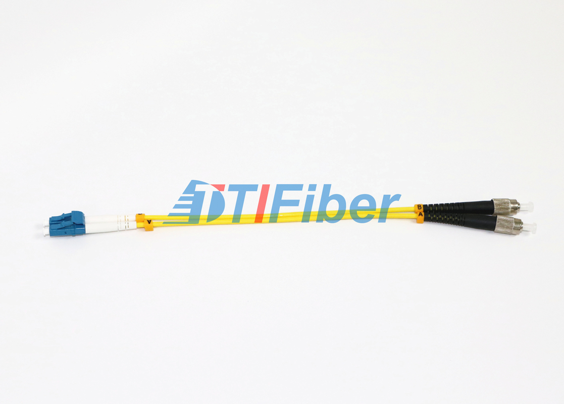 China Yellow Lc Fc Patch Cord Simplex Fiber Optic Cable Single Mode For CATV networks supplier