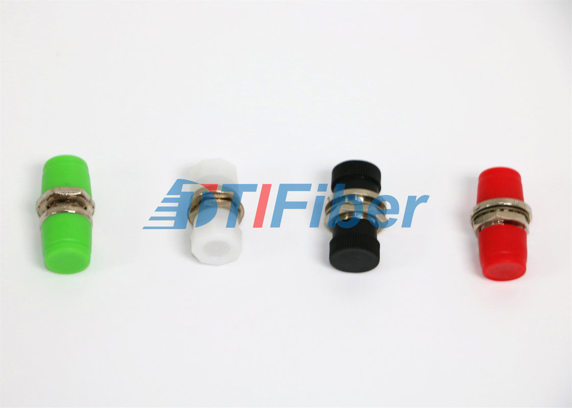 China Single D and Double d Type , FC Fiber Optic Adapter with White Dust Cap supplier
