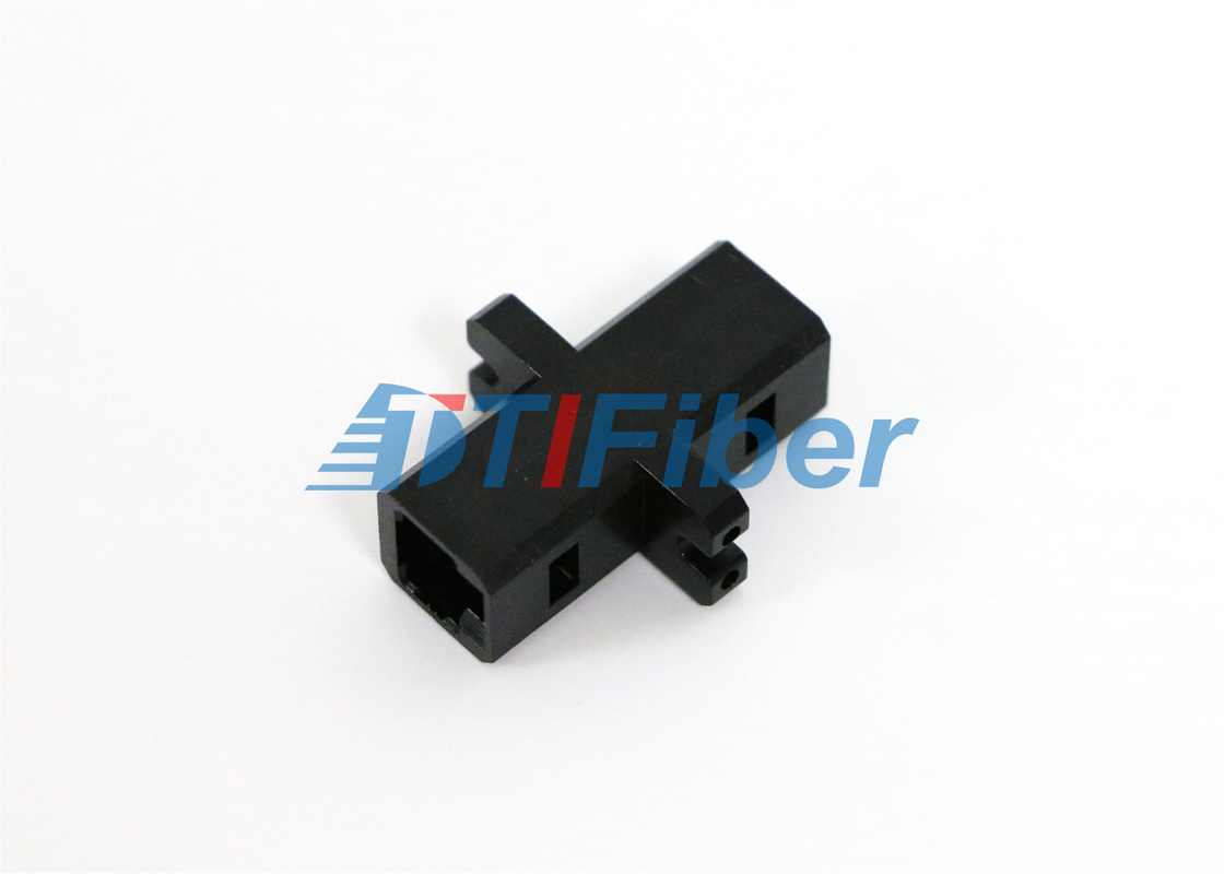 China MTRJ MU Lc To Fc Adapter Black Plastic Housing For FTTH Newwork supplier
