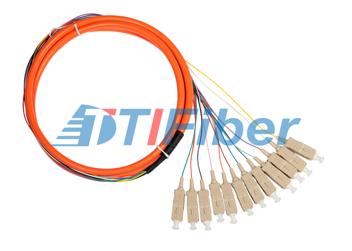 China Bundle Fiber Optic Pigtail for CATV Network with Multimode SC Connectors supplier