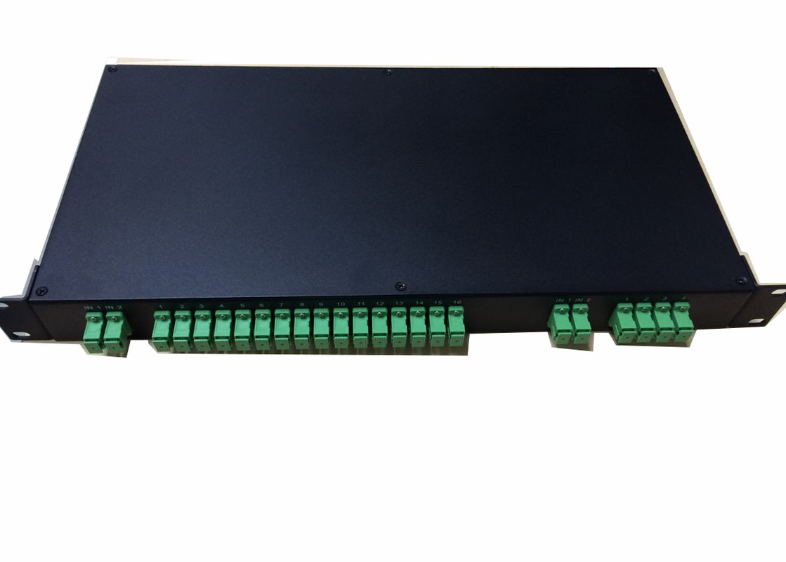 China Rack Mounted Odf Fiber Optic Terminal Box With 2x 16 Fiber Optic Plc Splitter supplier