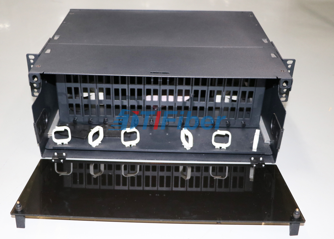 China 4U Slidable Fiber Optic Patch Panel for MTP / MPO Fiber Cassette Module supplier