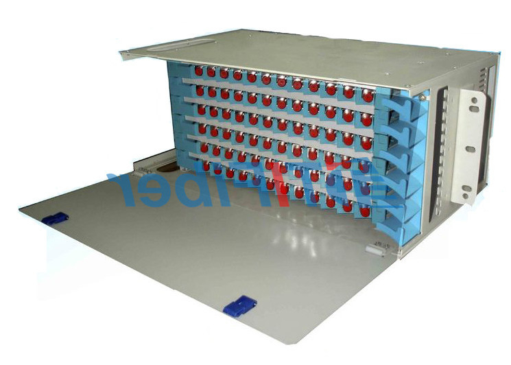 China 96 Port Patch Panel  SC UPC Simplex Port , Fixed Type ODF Wall Mount Fiber Patch Panel supplier