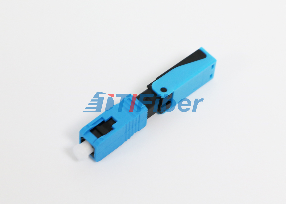 SC 50um / 62.5um FTTH Network Fiber Fast Connector High Return Loss