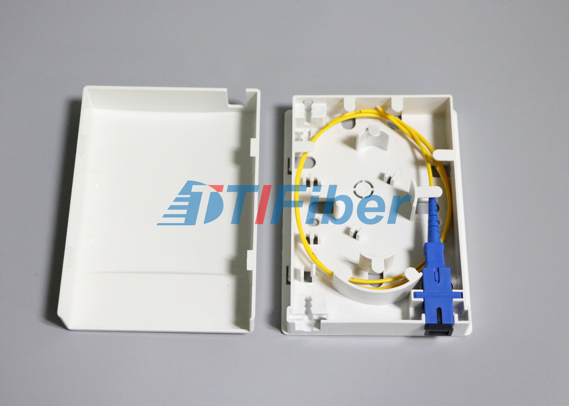 Ftth 86 Type Optical Termination Box With 2 Port Inlet Outlet Fiber Optic Cable China Supplier