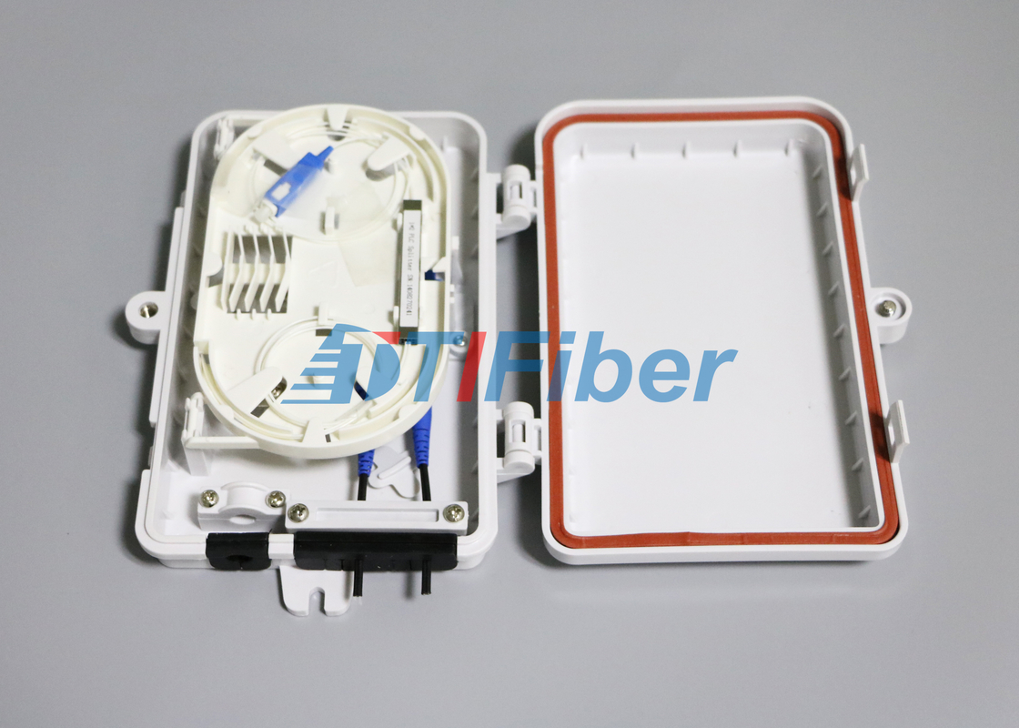 China FTTH Optical Fiber Termination Box With 4port SC LC Fiber Optic Connectors supplier