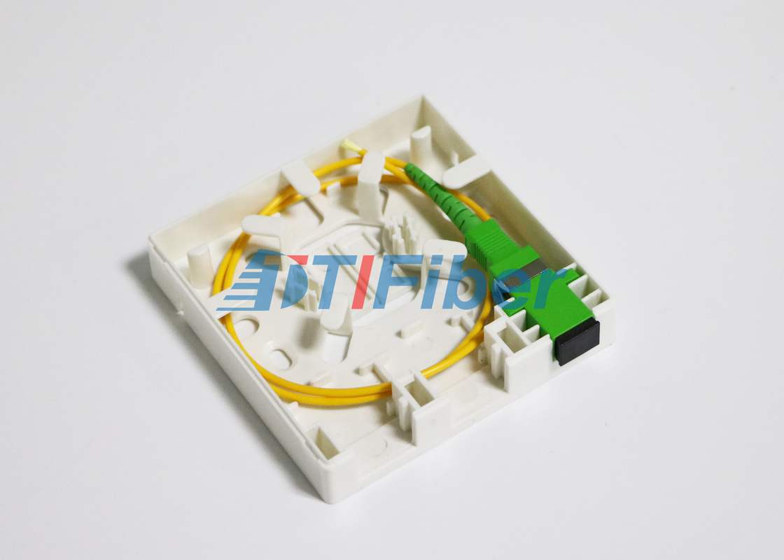 China 2 Port SC LC Fiber Pigtails And Fiber Adapters For Fiber Optic Distribution Box supplier
