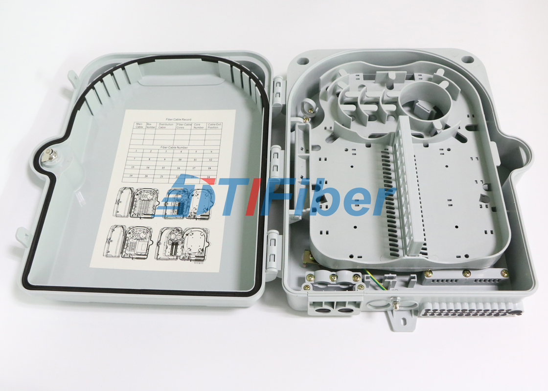 China SC 12 Port Wall Mount Fiber Termination Box With ABS Plastic Housing supplier