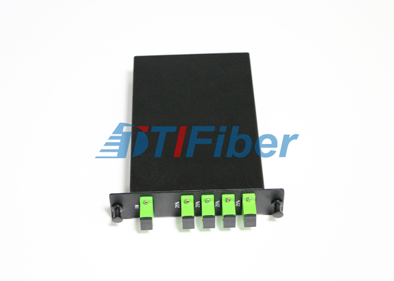 LGX PLC Fiber Optic Splitter Box with SC APC Simplex Fiber Optic Adapters