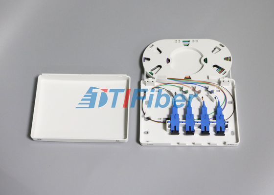 4 Port SC FC ST LC Indoor Fiber Optic Termination Box For FTTD Network