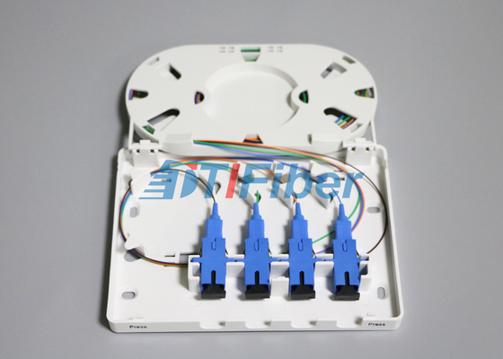 Wall mounted SC UPC APC Fiber Optic Terminal Box with ABS PC Material FTTH