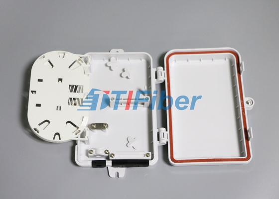 Wall Mounted Fiber Optic Distribution Box with 4 Port SC Fiber Adapters