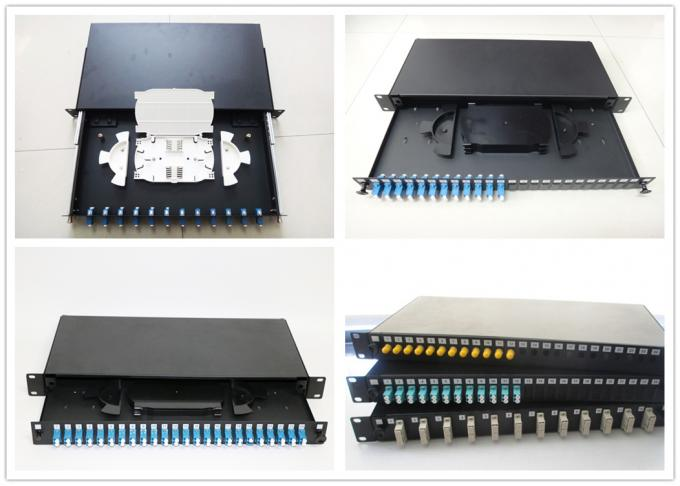Fixed Fiber Optic Terminal Box with 48 SC Duplex Port for 256 core Cabinet