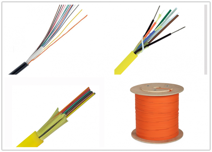 Mini Ribbon Fiber Optic Cable , 3.0mm 12 Core Optical Fiber Cable With Round OFNP Jacket
