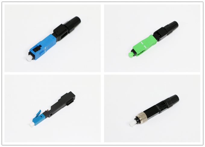 FC ST LC Fiber Optic Connector For FTTH Networks With High Insertion Loss