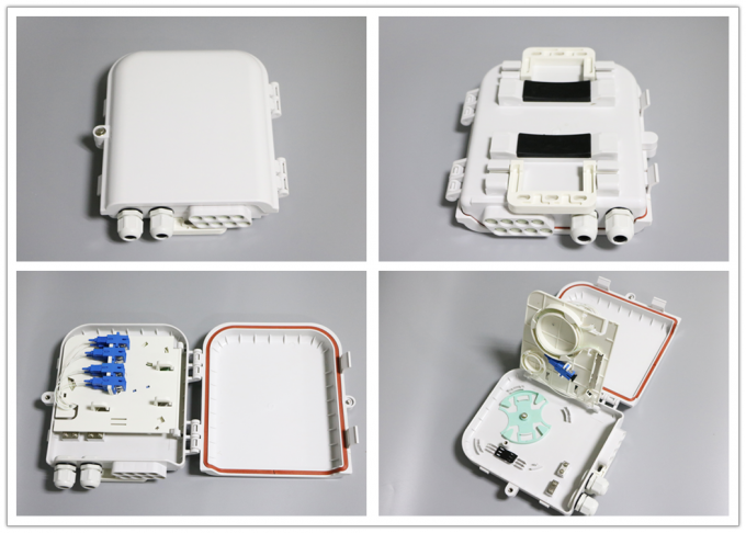 SC 8 Port Waterproof Fiber Optic Distribution Box for FTTH Networks